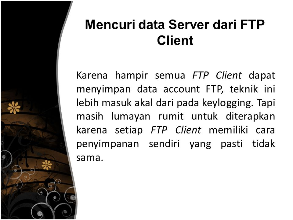 Mencuri data Server dari FTP Client
