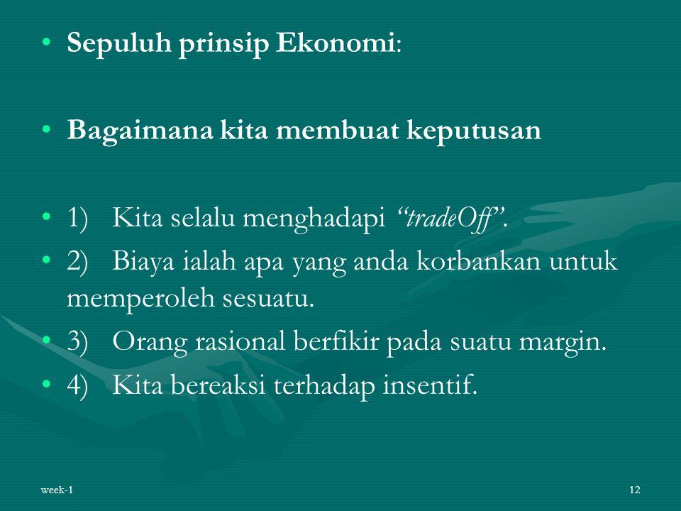 Sepuluh prinsip Ekonomi: Bagaimana kita membuat keputusan