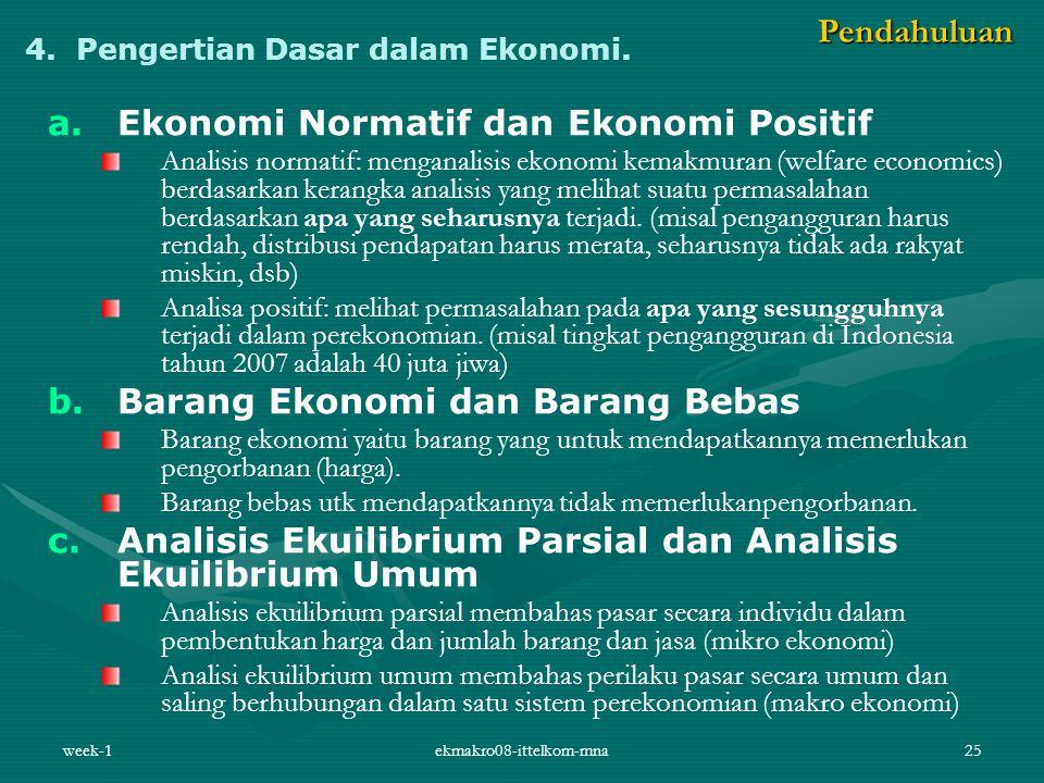 4. Pengertian Dasar dalam Ekonomi.