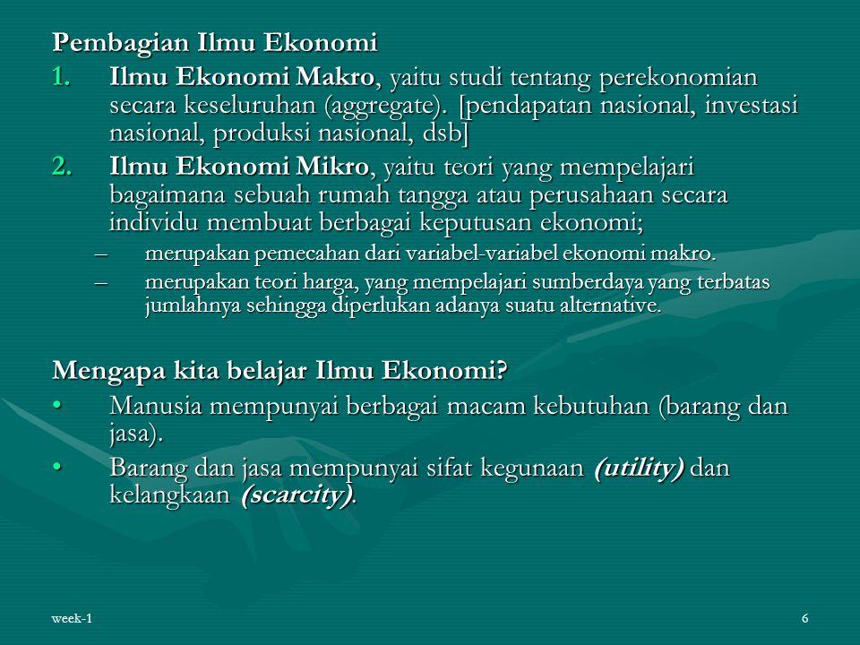 Pembagian Ilmu Ekonomi