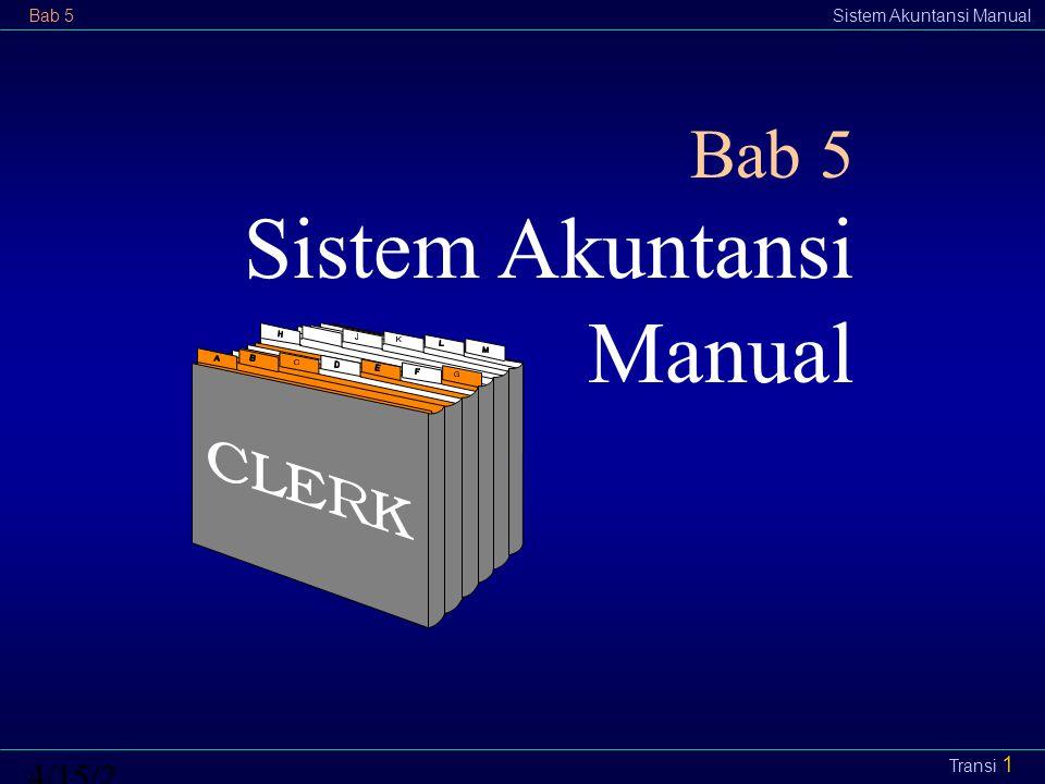 Bab 5 Sistem Akuntansi Manual 4/12/20174/12/2017