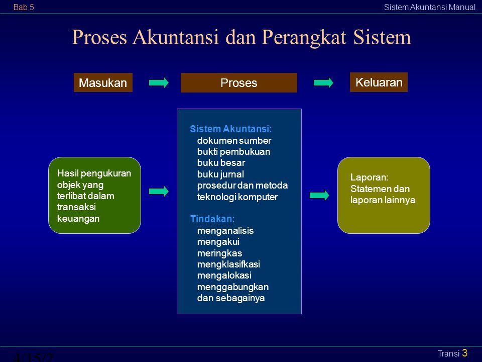Proses Akuntansi dan Perangkat Sistem