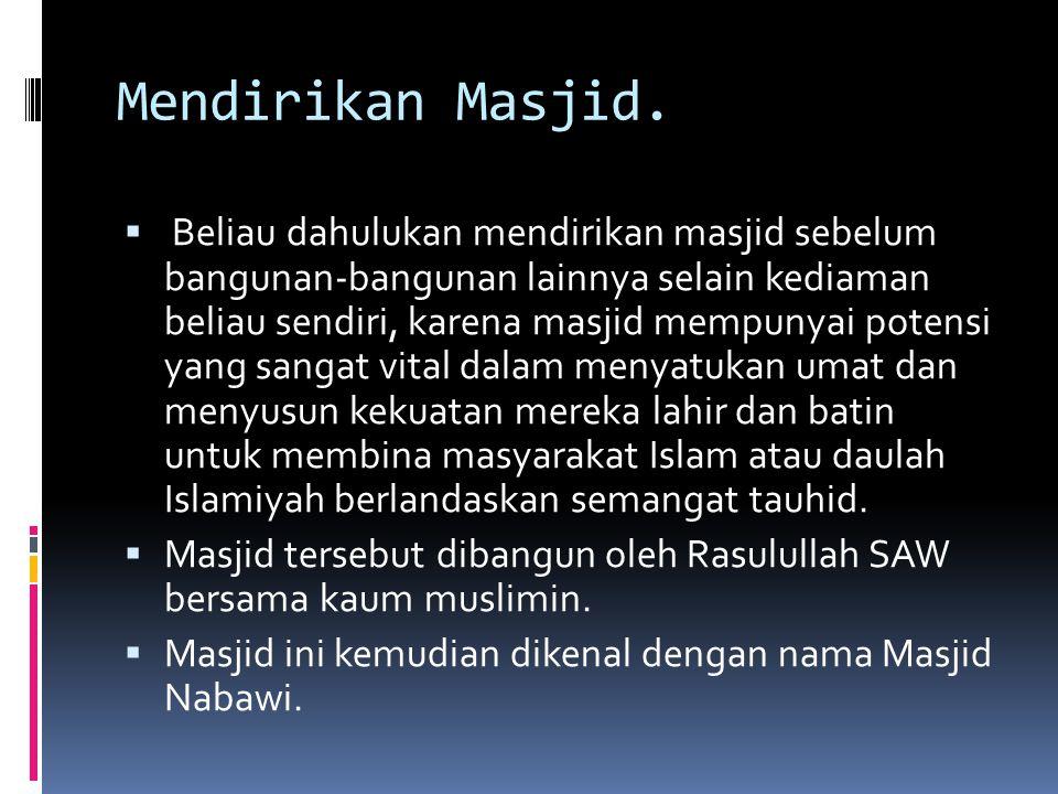 Mendirikan Masjid.