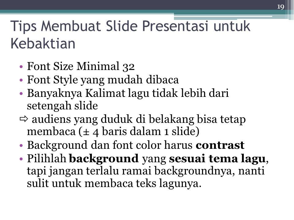 Tips Membuat Slide Presentasi untuk Kebaktian