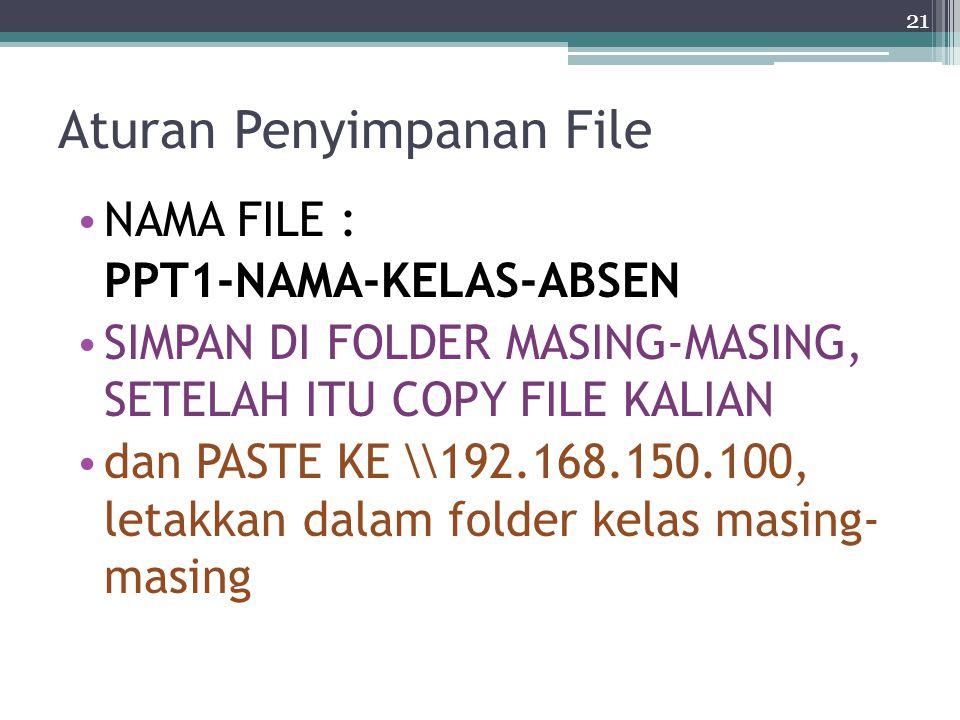 Aturan Penyimpanan File