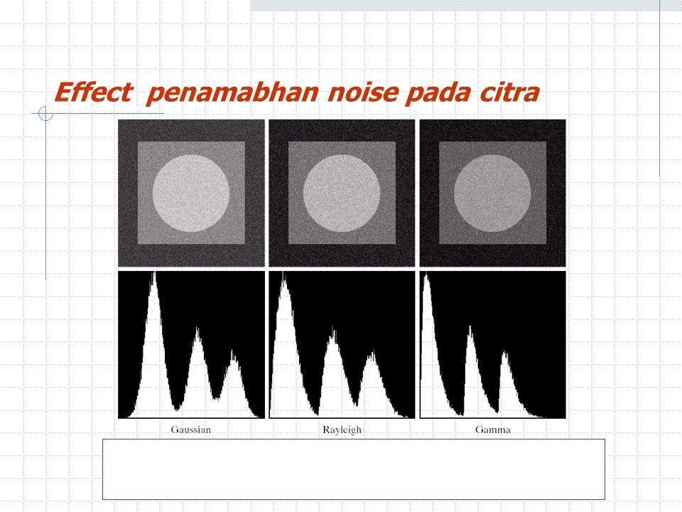 Effect penamabhan noise pada citra