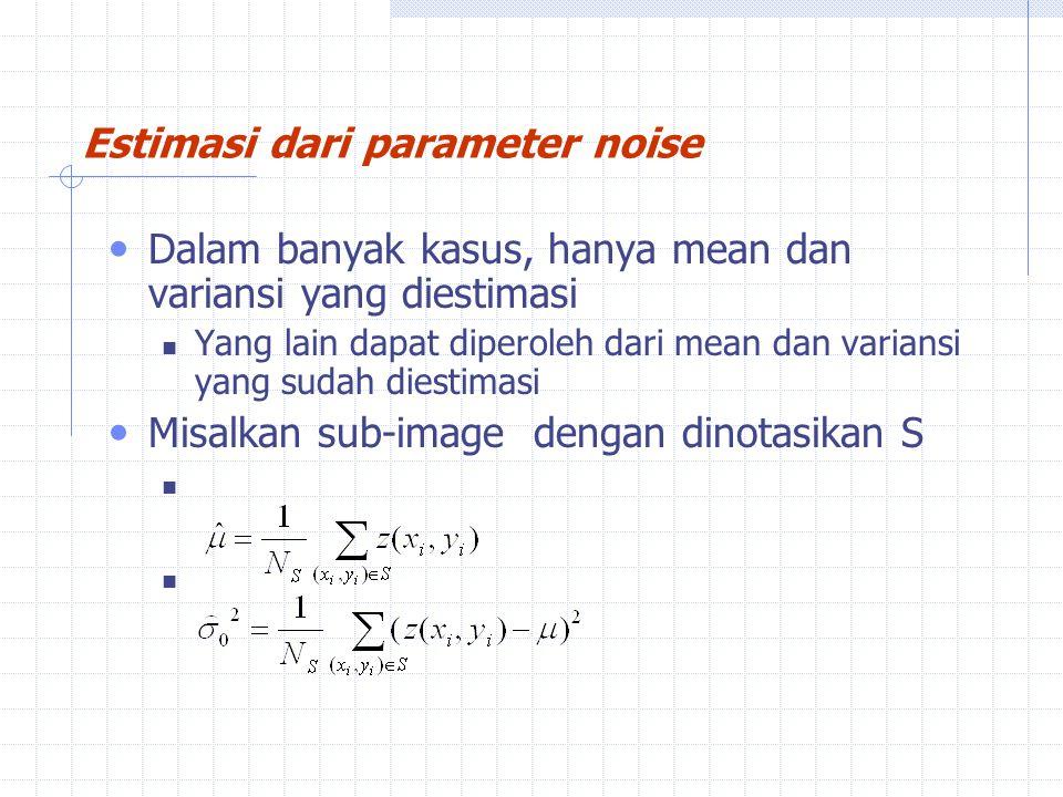 Estimasi dari parameter noise