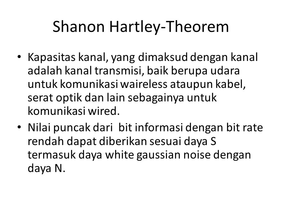 Shanon Hartley-Theorem