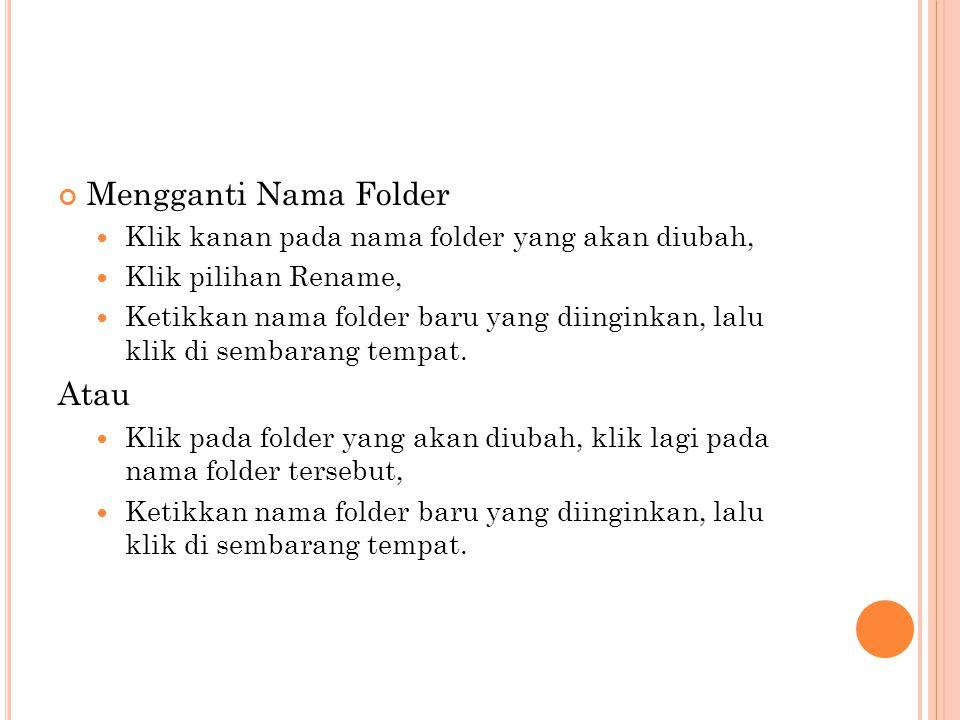 Mengganti Nama Folder Atau