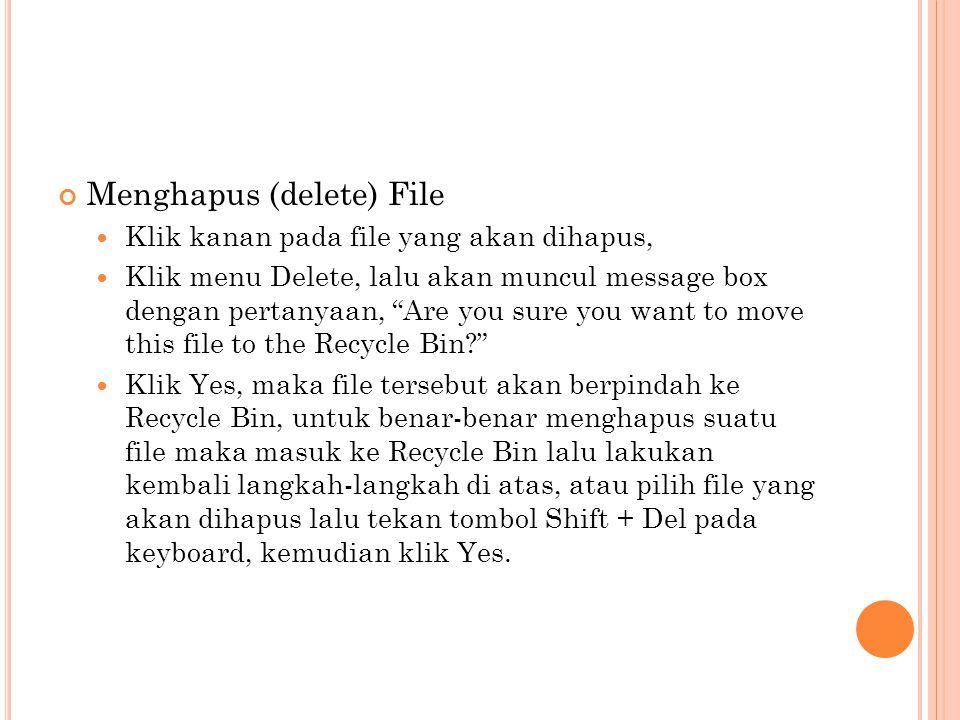 Menghapus (delete) File