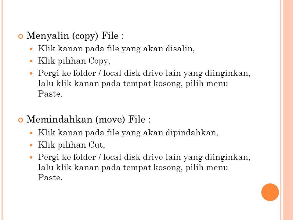 Memindahkan (move) File :