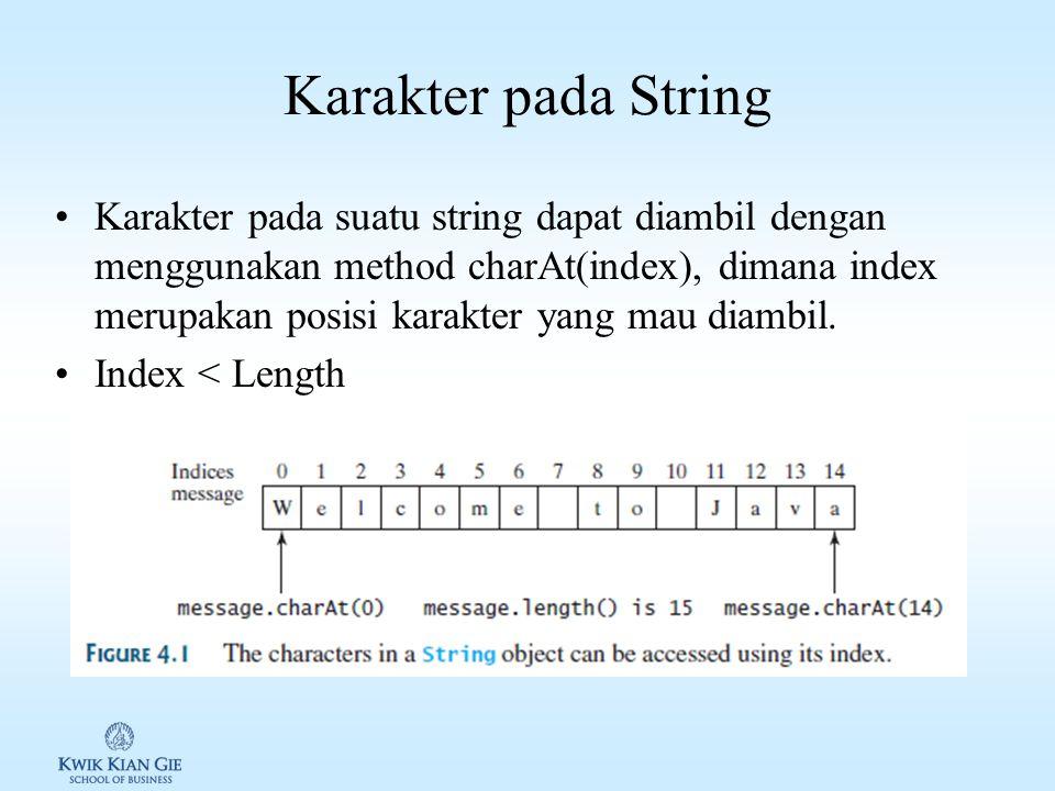 Karakter pada String