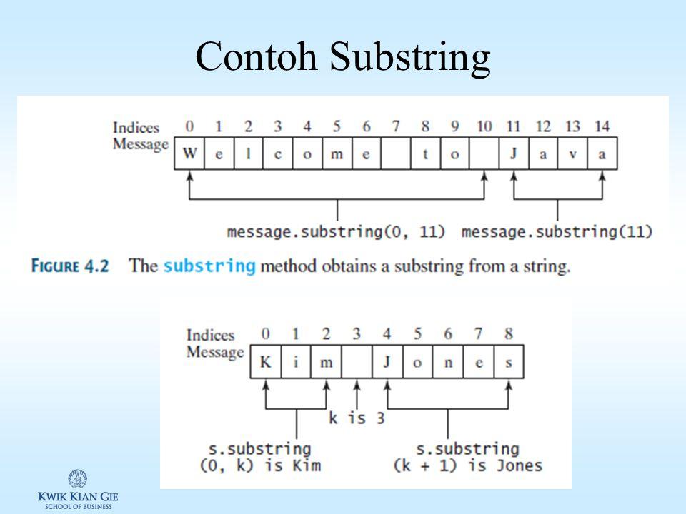 Contoh Substring