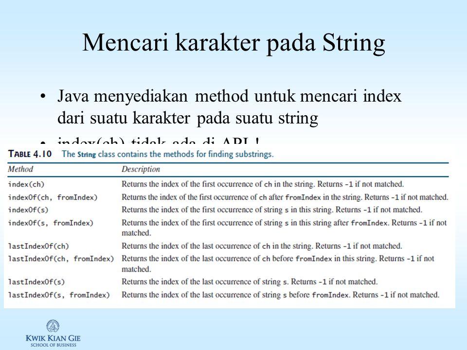 Mencari karakter pada String