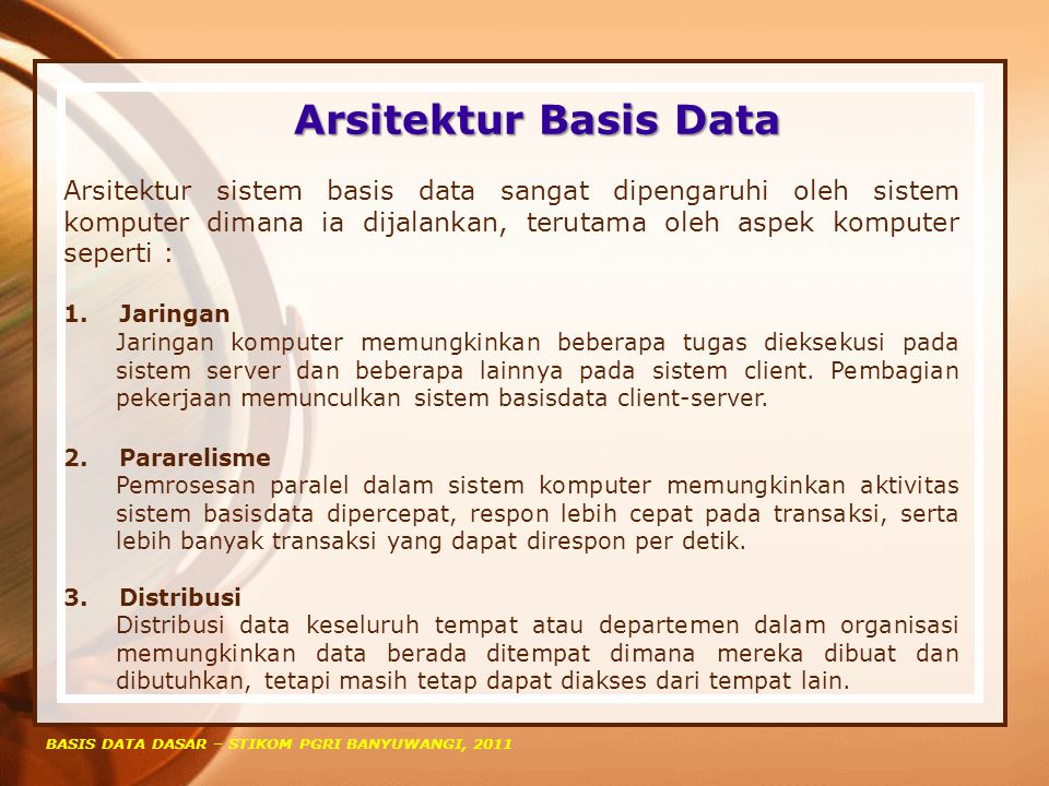 Arsitektur Basis Data