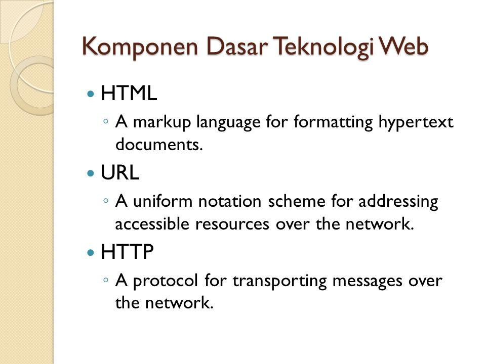 Komponen Dasar Teknologi Web