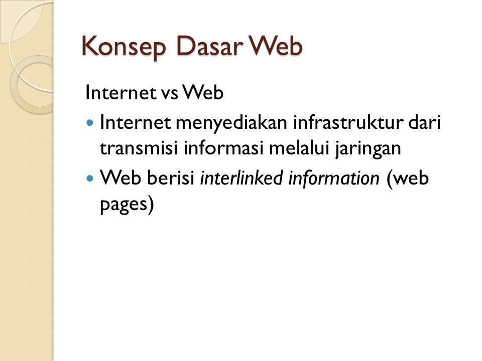 Konsep Dasar Web Internet vs Web