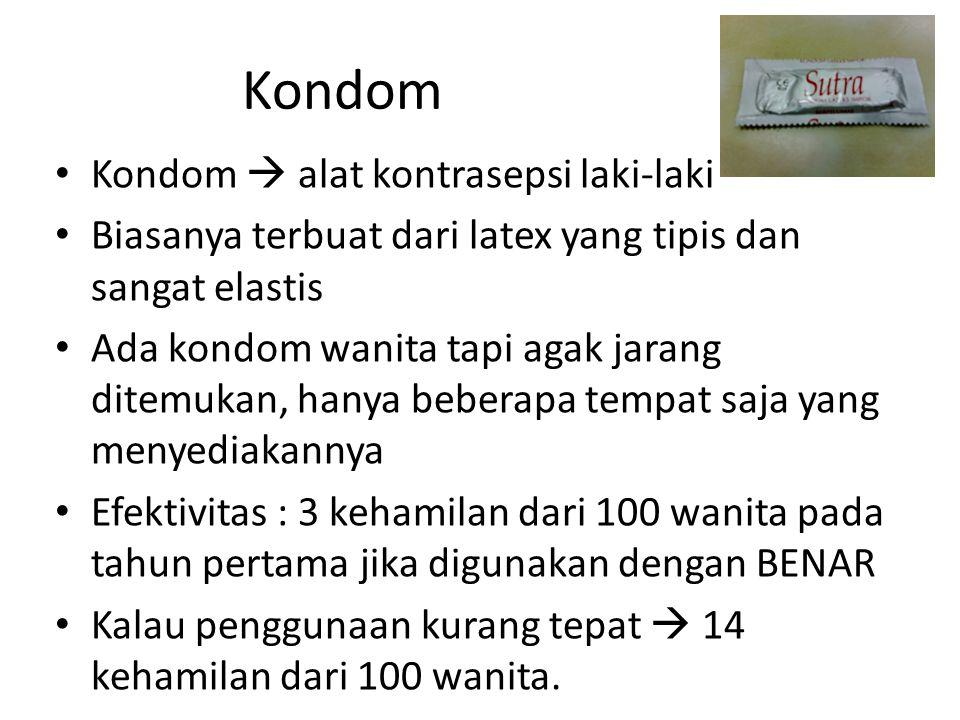 Kondom Kondom  alat kontrasepsi laki-laki