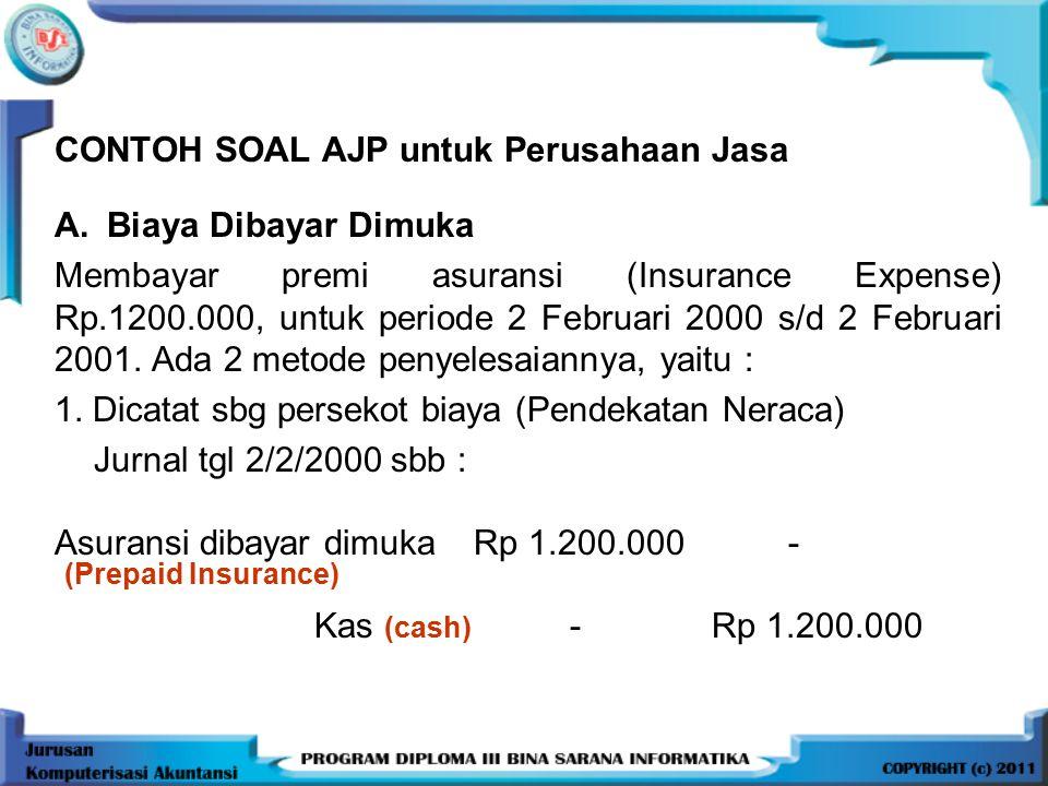 CONTOH SOAL AJP untuk Perusahaan Jasa