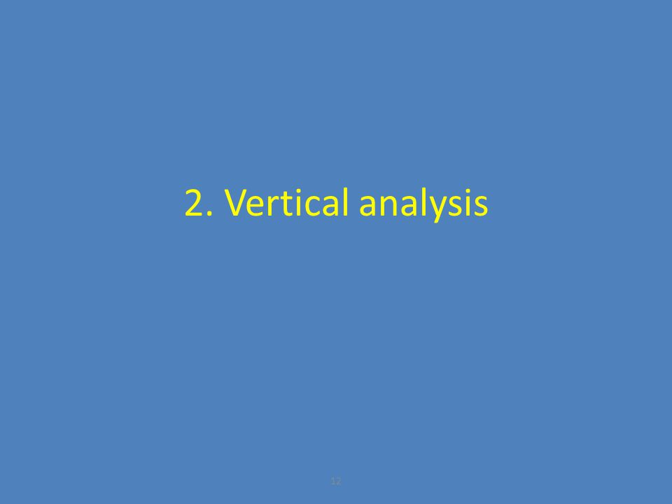 2. Vertical analysis