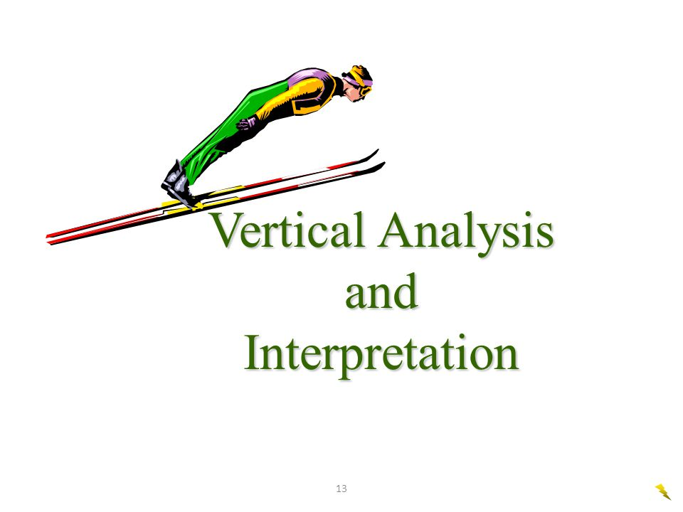 Vertical Analysis and Interpretation