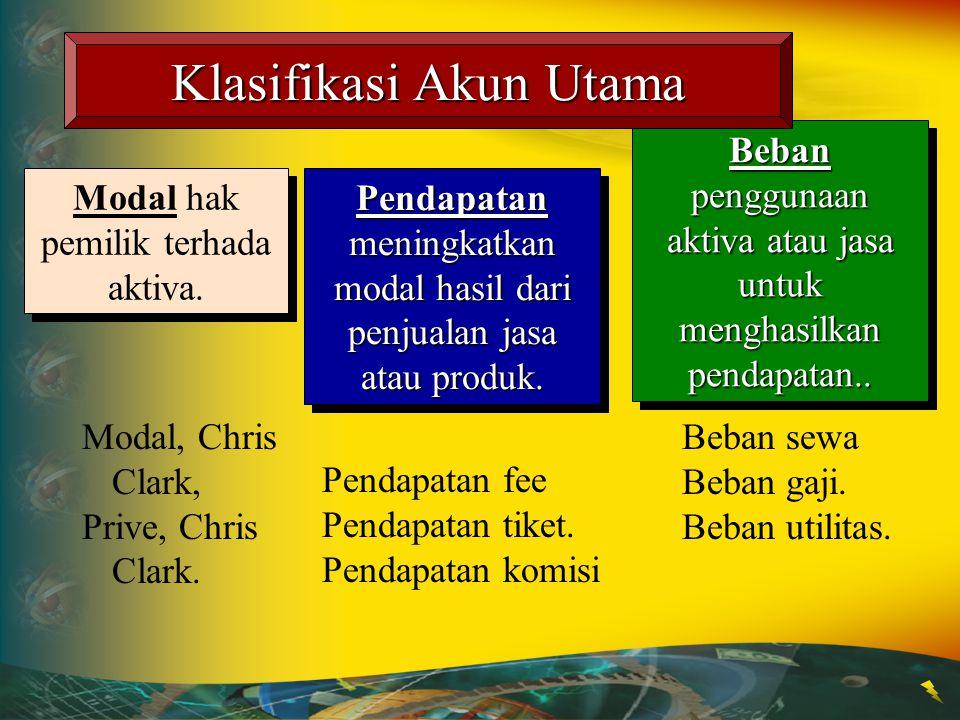 Klasifikasi Akun Utama