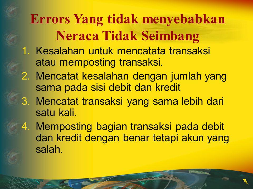 Errors Yang tidak menyebabkan Neraca Tidak Seimbang