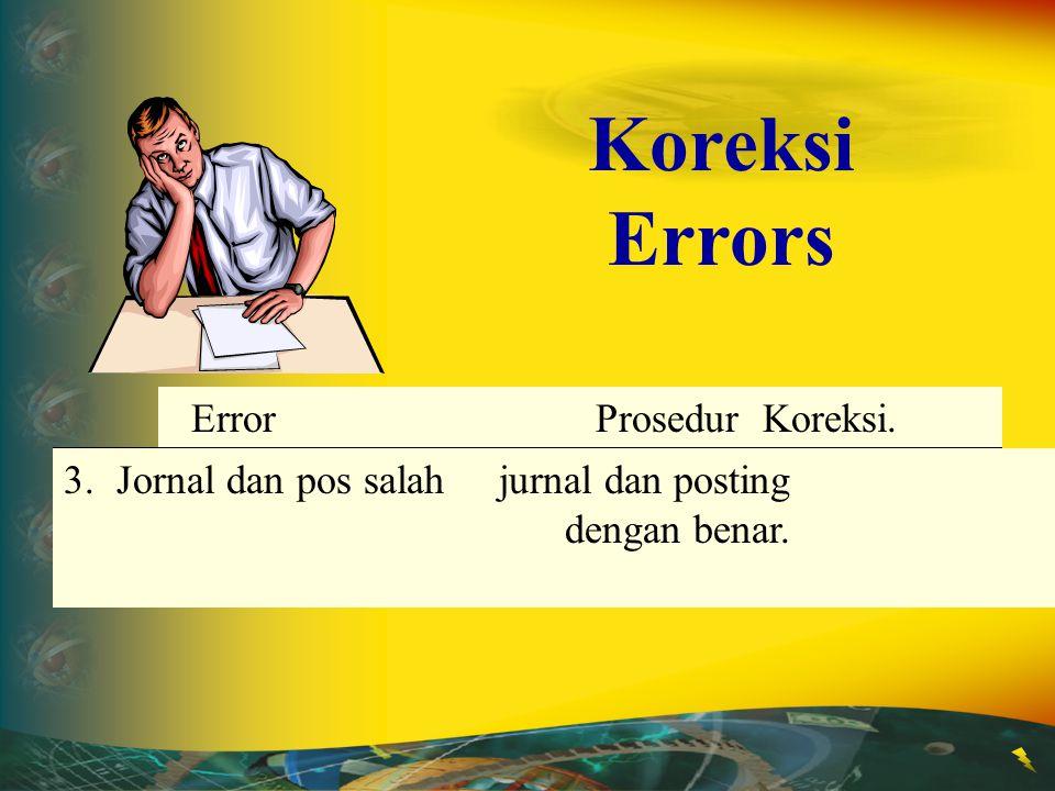 Koreksi Errors Jornal dan pos salah jurnal dan posting dengan benar.