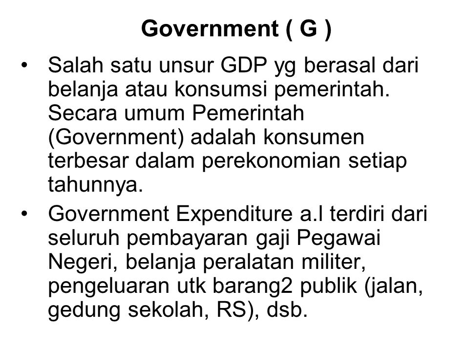 Government ( G )