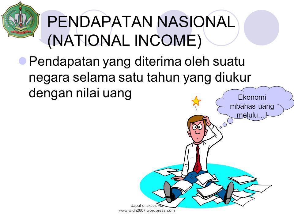 PENDAPATAN NASIONAL (NATIONAL INCOME)