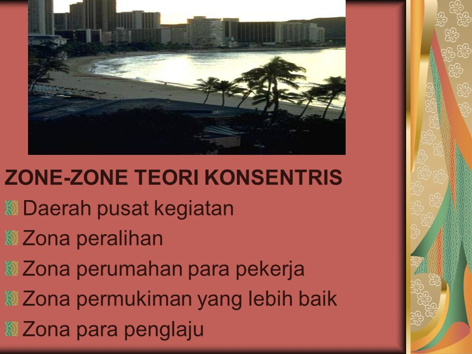 ZONE-ZONE TEORI KONSENTRIS