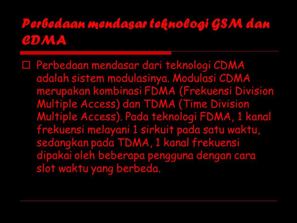 Perbedaan mendasar teknologi GSM dan CDMA