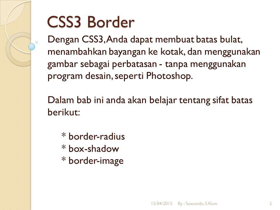 CSS3 Border