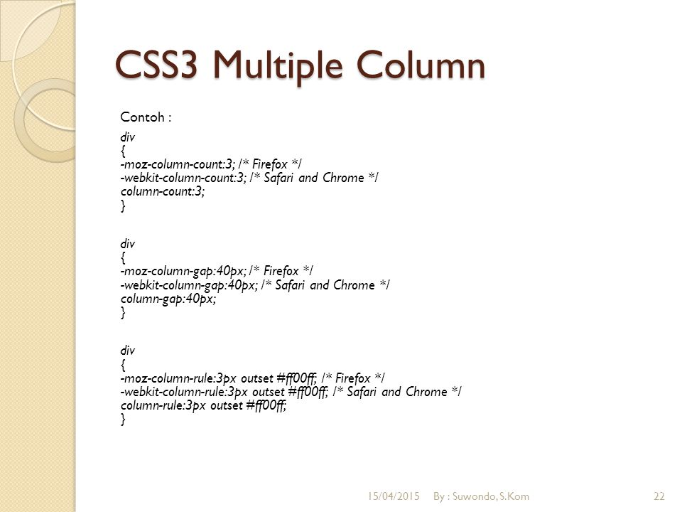 CSS3 Multiple Column