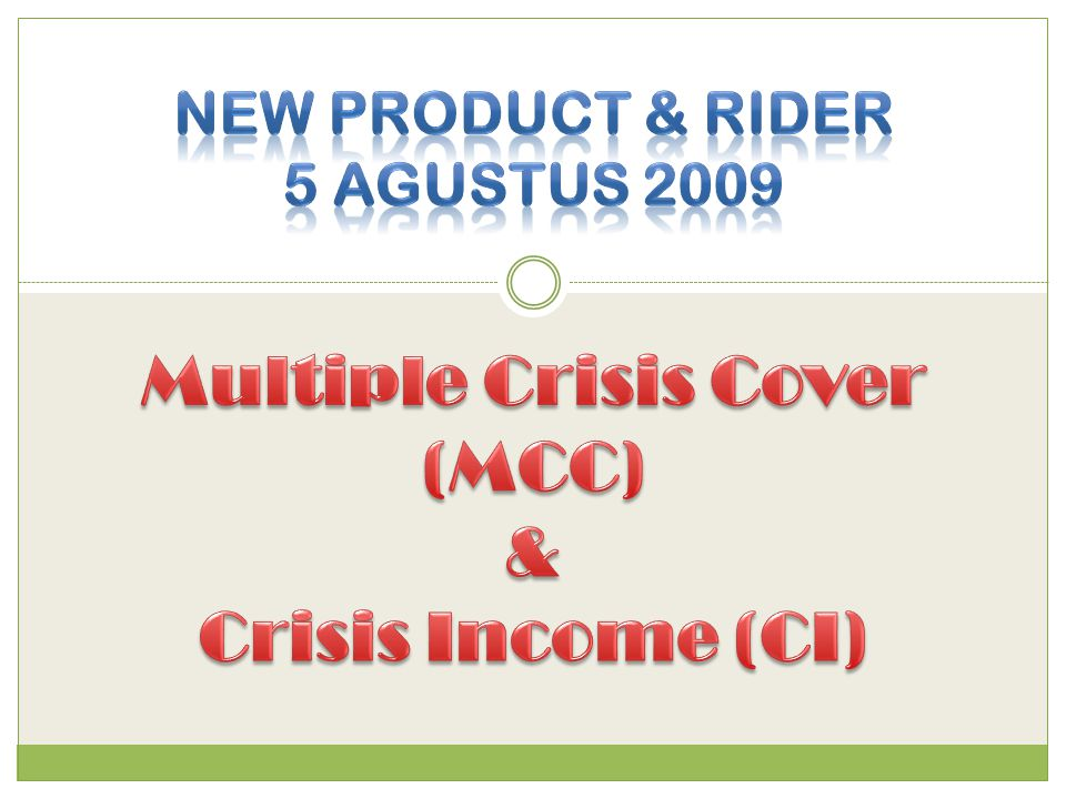 Multiple Crisis Cover (MCC)
