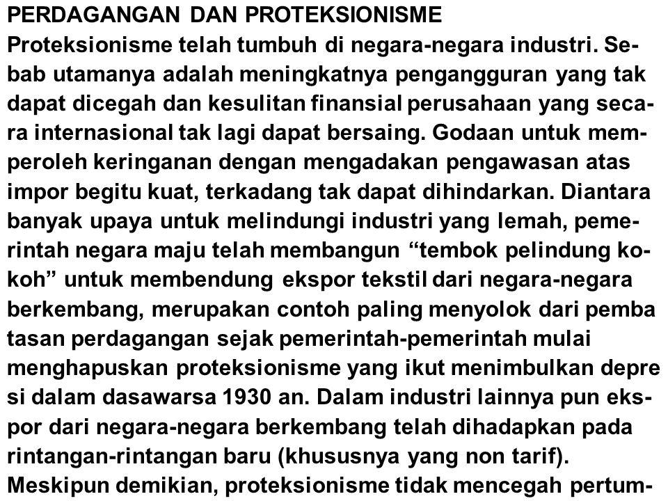 PERDAGANGAN DAN PROTEKSIONISME