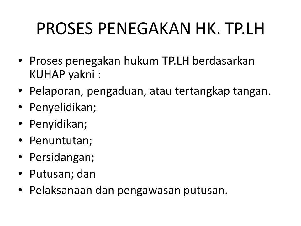 PROSES PENEGAKAN HK. TP.LH