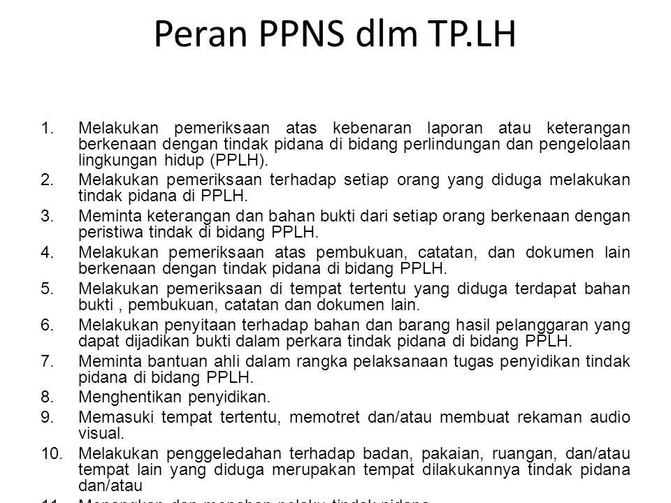 Peran PPNS dlm TP.LH