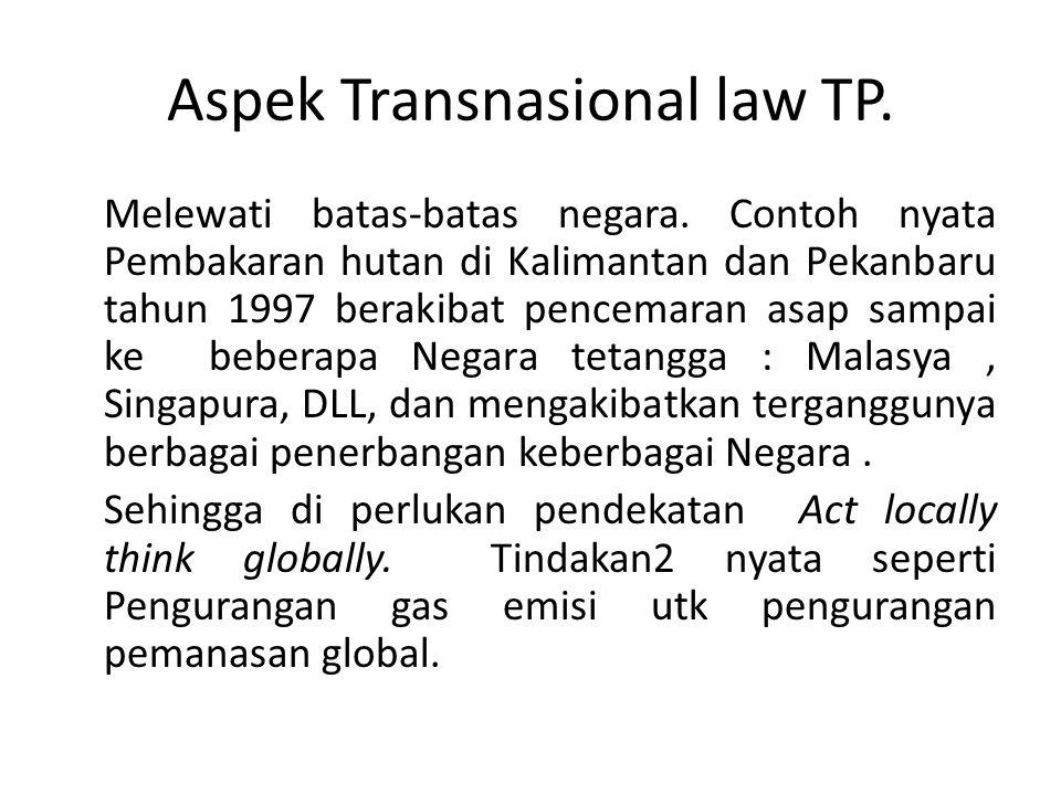 Aspek Transnasional law TP.