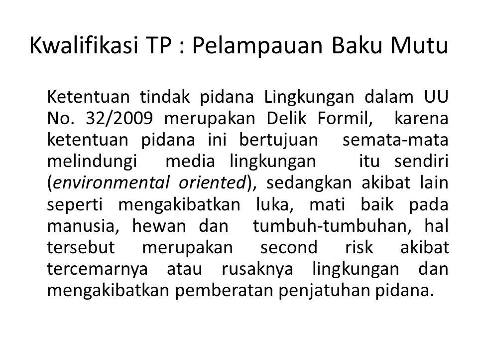 Kwalifikasi TP : Pelampauan Baku Mutu