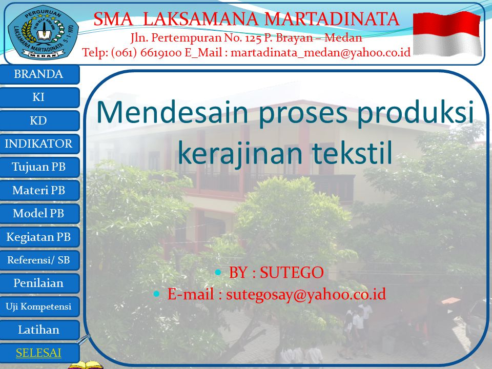 Mendesain proses produksi kerajinan tekstil