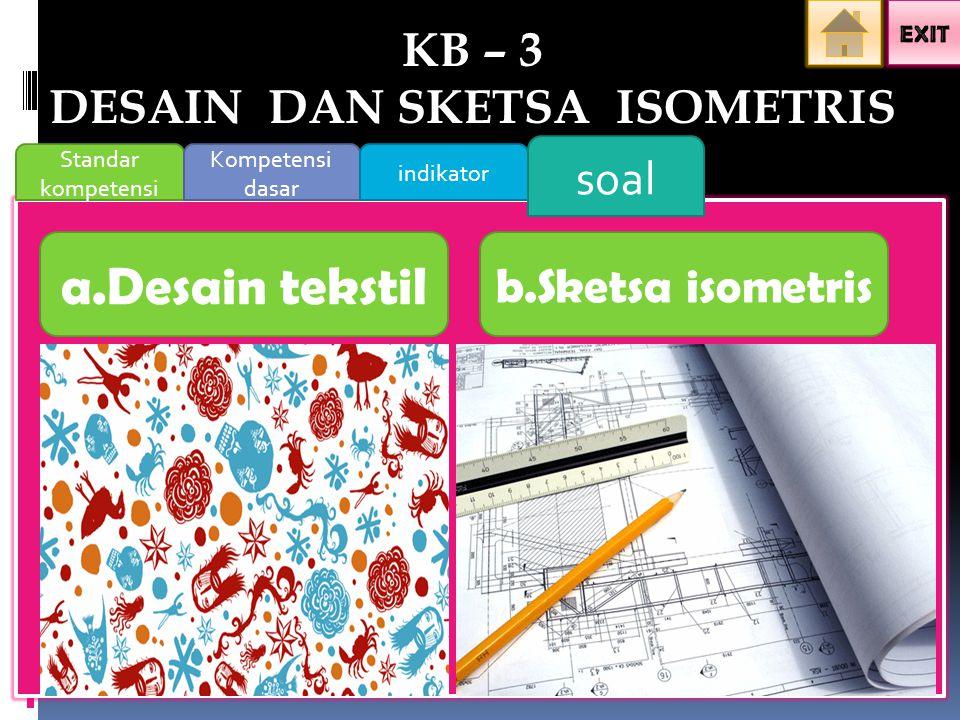 KB – 3 DESAIN DAN SKETSA ISOMETRIS