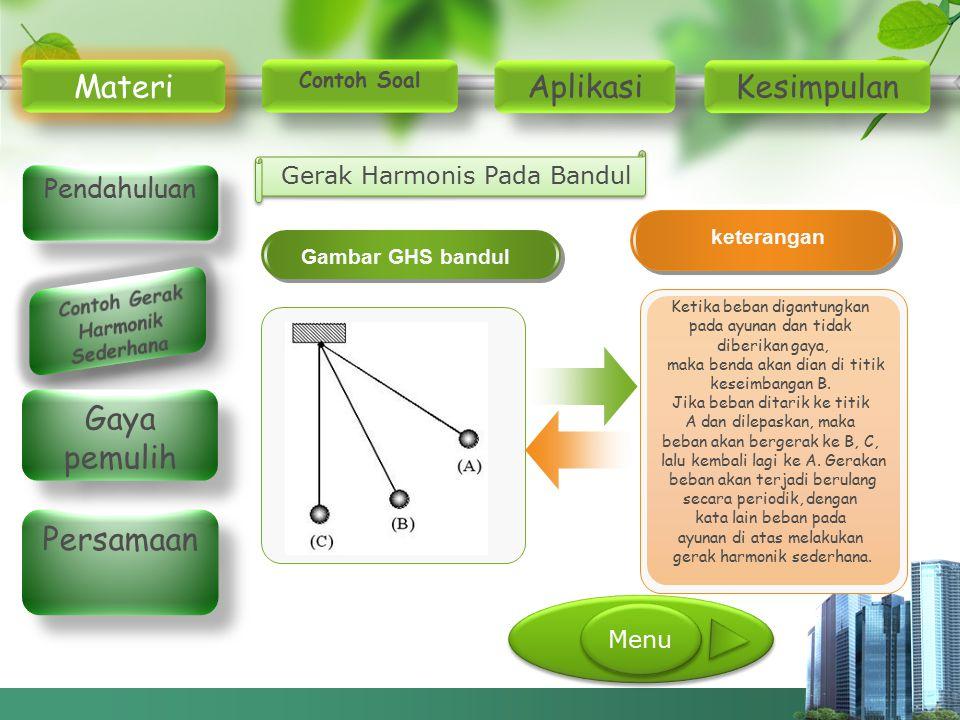Contoh Gerak Harmonik Sederhana