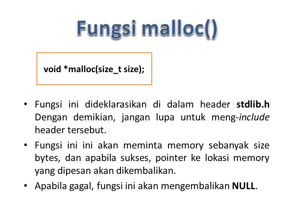 void *malloc(size_t size);