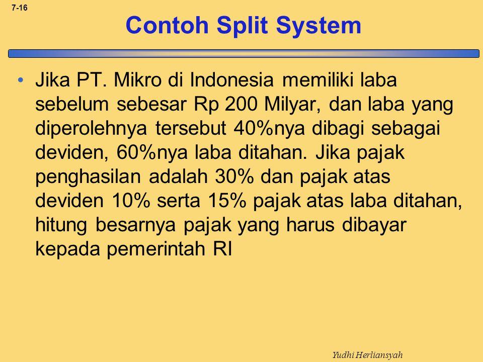 Contoh Split System