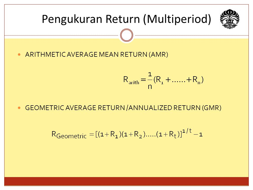 Pengukuran Return (Multiperiod)