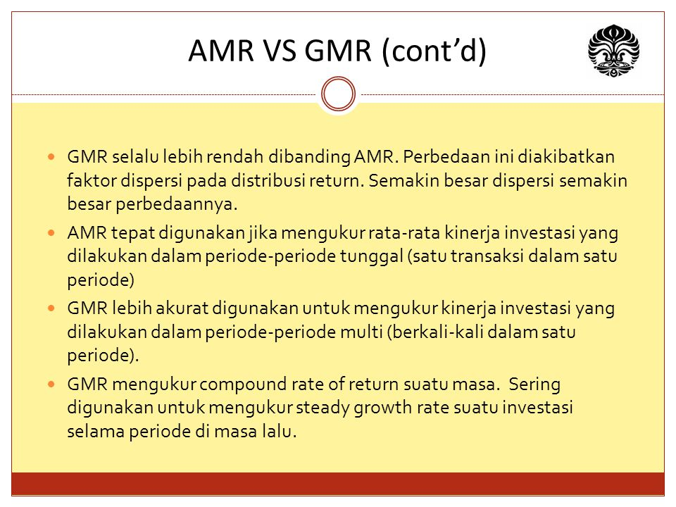 AMR VS GMR (cont'd)
