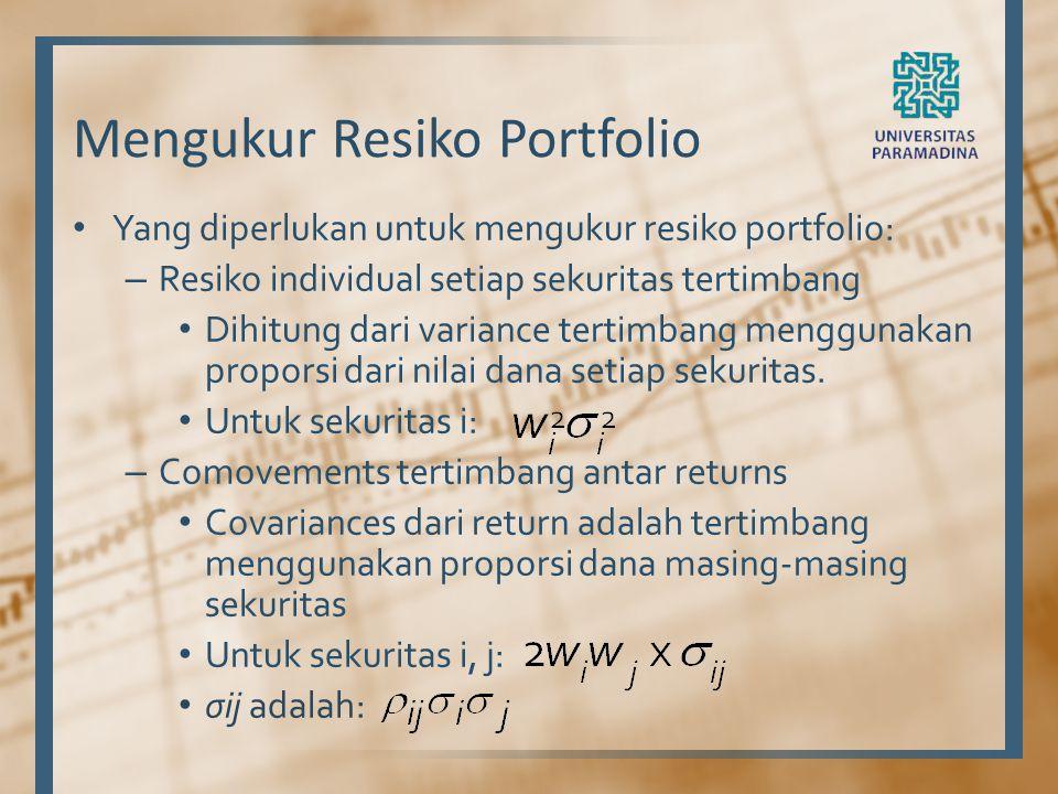 Mengukur Resiko Portfolio