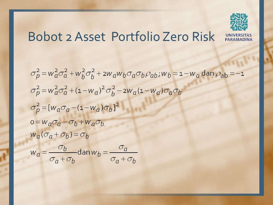 Bobot 2 Asset Portfolio Zero Risk