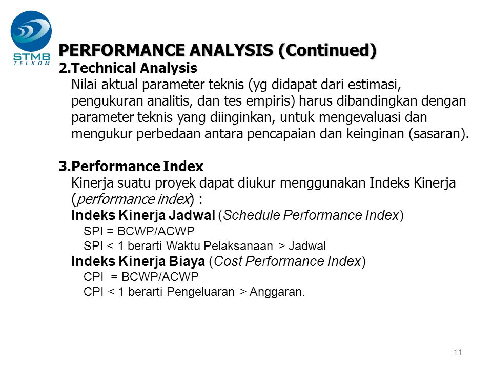 PERFORMANCE ANALYSIS (Continued)